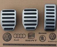 VW Bus T5 Multivan T6 pedal caps pedal set covers for manual cars OEM
