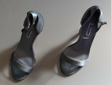 Ladies Dune silver/ grey heeled shoes -  size 3.5