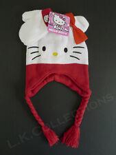 e667f82d6 Hello Kitty Red & White Laplander Winter Hat & Mittens Set NWT Hello Kitty  Head