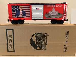 MTH 20-93886 Limited Edition Donald Trump Drain The Swamp Boxcar NIB