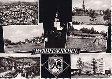 uralte AK, Wermelskirchen, Gesamt, Omnibus-Bahnhof, Markusmühle, Strandbad, 1967