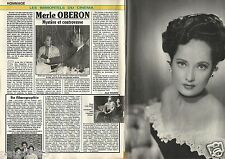 Coupure de presse Clipping 1991 Merle Oberon   (2 pages)