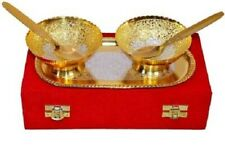 Brass Religious Set Of 5 Bowl Set For Puja Decorative Diwali Gift For Friends
