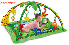 Newborn Baby Musical Activity Lay Playmat Lullaby Safari Jungle Soft Gym Arch UK