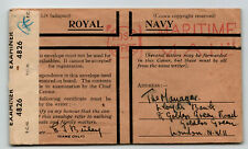 Gb Wwii Royal Navy Censored Cover / Maritime Mail Po - Z13761