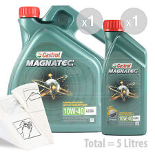Car Engine Oil Service Kit / Pack 5 LITRES Castrol Magnatec 10w-40 5L