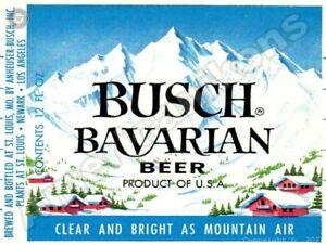 Busch Bavarian Beer NEW Metal Sign: Anheuser Busch Brewing Co. St. Louis, MO