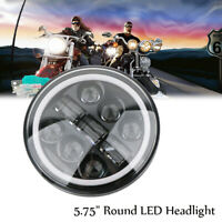 Noir 5.75'' Moto Phare Projecteur LED Headlight Lamp Pour Sportster XL 883