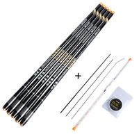 3.6-7.2M Telescopic Fishing Rod Hard Stream Carp Hand Pole Fishing Floats Set