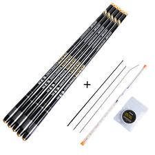 3.6-7.2M Telescopic Fishing Rod Hard Stream Carp Hand Pole Fishing Floats Set