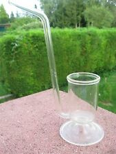 PIPE à COGNAC en Verre sur pied 15,5 cm haut