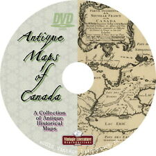 Antique Maps of Canada { Canadian History & Geography } on Dvd