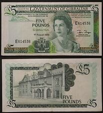 Gibilterra £ 5 Five Pounds  1988 Pick 216 circulated #B343
