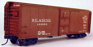 Funaro  F&C HO Reading XMv Steel Boxcar  w/ Reading Roman Decals kit 8390
