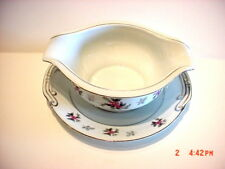 ROSEMERE JAPAN CHINA PATTERN FINE CHINA GRAVY BOAT W/ UNDERPLATE ATTACHED