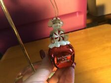 """Charming Tails """"Peppermint """" Dean Griff New 2019 Christmas Ornament Bell"""