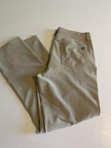 Footjoy FJ Athletic Fit Mens 34x31 Beige 5 Pocket Performance Golf Pants