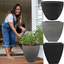More details for large plastic planter plant flower pot indoor outdoor garden patio