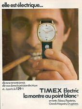▬► PUBLICITE ADVERTISING AD MONTRE WATCH TIMEX Electric Point Blanc