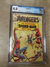 AVENGERS #11 CGC 4.0 KEY EARLY SPIDER MAN APPEARANCE-MARVEL COMIC BOOK LIKE CBCS