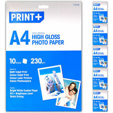 50 Sheets A4 High Gloss Bright Photo Printer Paper 230gsm Thick Quick Drying