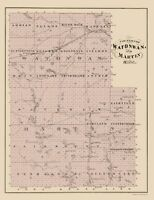 Watonwan Martin Counties Minnesota  - Andreas 1874 - 23.00 x 29.91
