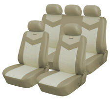 Synterior Brand, Synthetic Leather-Like Car Seat Covers Caramel Cream