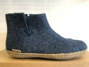 GLERUPS DENIM SLIPPERS 100 % PURE AND NATURAL WOOL BOOTS FOR WOMEN