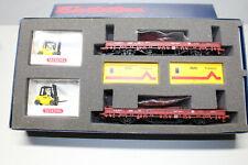 Electrotren 21740 ADAC Prüfdienst-Set Güterwagen und Gabelstaplern Spur H0 OVP