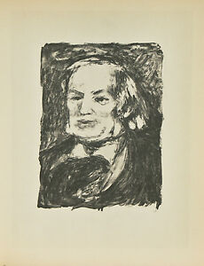 """""""Richard Wagner"""" By Fernand Mourlot After Renoir Lithograph LE #29/3000"""