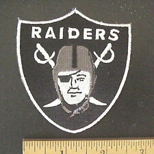 "OAKLAND RAIDERS NFL FOOTBALL IRON-ON  3"" x 2 3/4"" IRON-ON PATCH"