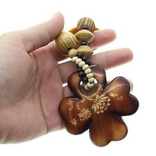 Unisex New Hip-Hop Cross Flower Pendant Wooden Rosary Bead Necklace Wood Fashion