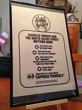 "BIG 11X17 FRAMED CHARLES WRIGHT ""EXPRESS YOURSELF"" LP ALBUM CD & 45 PROMO AD"