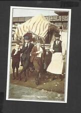 Nostalgia Postcard Ice Cream Vendor & Customers Kings Cross London 1905