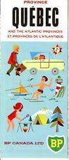1966 BP Canada Road Map: Quebec NOS