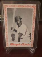 1976 ERNIE BANKS Baseball Card Chicago's Greats Chicago Cubs