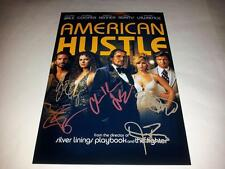 "AMERICAN HUSTLE CAST X5 PP SIGNED 12""X8"" POSTER CHRISTIAN BALE JENNIFER LAWRENCE"