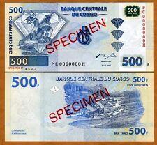 SPECIMEN, Congo D. R. 500 Francs, 2002, P-96, PC-H, UNC