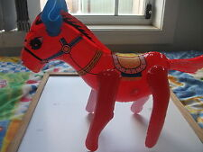 1 x Inflatable Plastic Cute Horse Blow-up  toy for kids Red
