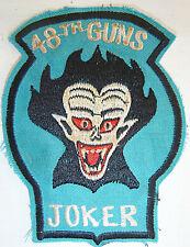 JOKERS - Patch - US ARMY 48th ASSAULT HELICOPTER CO - Vietnam War - GUNS - 9238