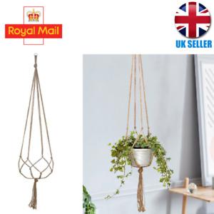 Garden Plant Hanger Macrame Hanging Planter Basket Rope Flower Pot Holder Decor