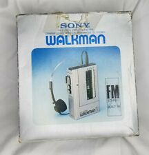 SONY Walkman WM F1 Cassette Player in Original Box -  Working