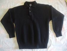 GAP Pullover 100% Wool Knit Black Sweater Women Size L Men Size S/M EUC