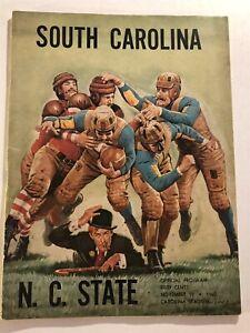 1960 NC STATE WOLFPACK vs SOUTH CAROLINA Program ROMAN GABRIEL Jake BODKIN Frye