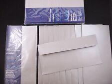 50 Quality Metallic DL Envelopes Silver Grey Wedding Engagements FREE POSTAGE