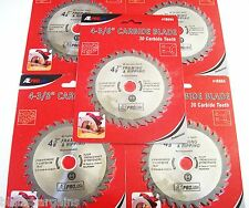 """5 ATE PRO 4-3/8"""" CORDLESS CARBIDE TIPPED CIRCULAR SAW BLADES 30T 30 TOOTH 18004"""