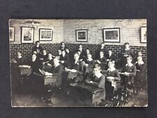 Vintage Postcard: RP Anonymous People: Group #A13 : Boys School Haringey London
