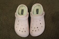 Little Girls Crocs - Size 12 C 13.  Pink with fur lining