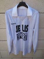 Maillot SCO ANGERS vintage porté n°9 COUPE DE FRANCE 1991 rare worn shirt 4 x 5