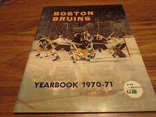 70/71 BRUINS OFFICIAL YEARBOOK GREAT  SHAPE